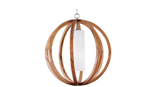 Pendant light gives off an elegantly rustic vibe