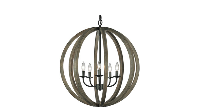 Pendant light with a rustic touch