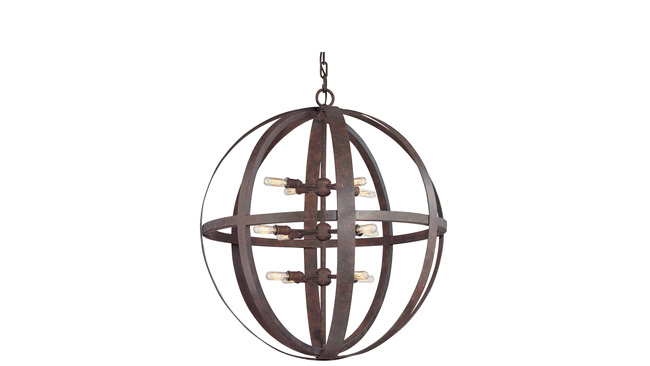 Pendant light makes a statement with iron