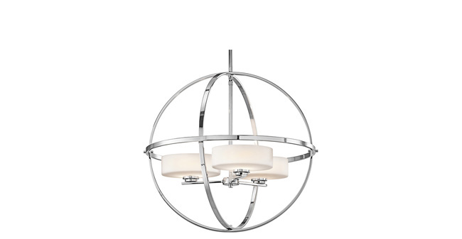 Chandelier offers simple sophistication