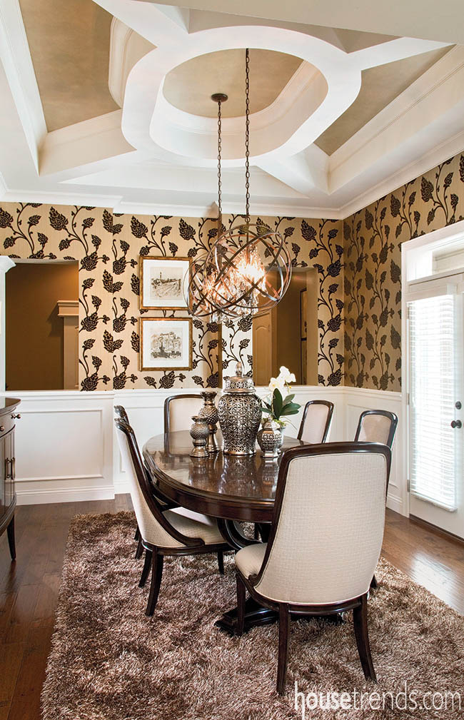 Allow for plenty of room when setting a dining room table
