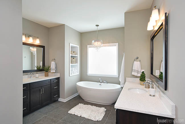 Couple kept the past in mind when designing a master bath