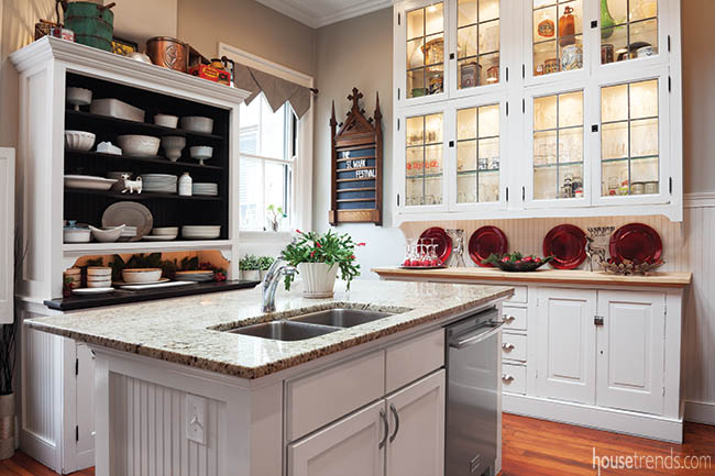Renovated kitchen shows off a bit of history