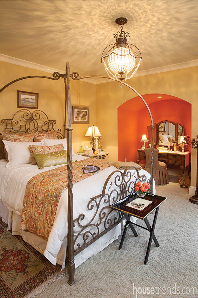 Bedroom furniture gives modern room an antiquated feeling