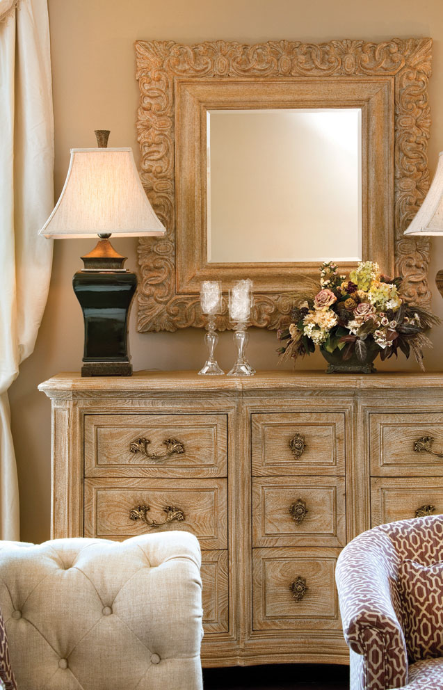 Bedroom furniture gives off a timeless vibe