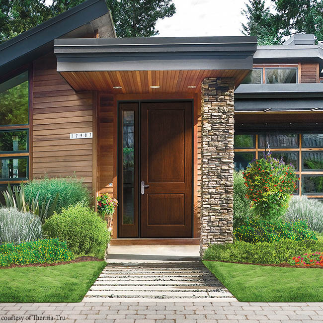 Larger entry doors are gaining popularity