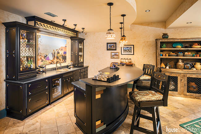 Basement bar gives home personal touch