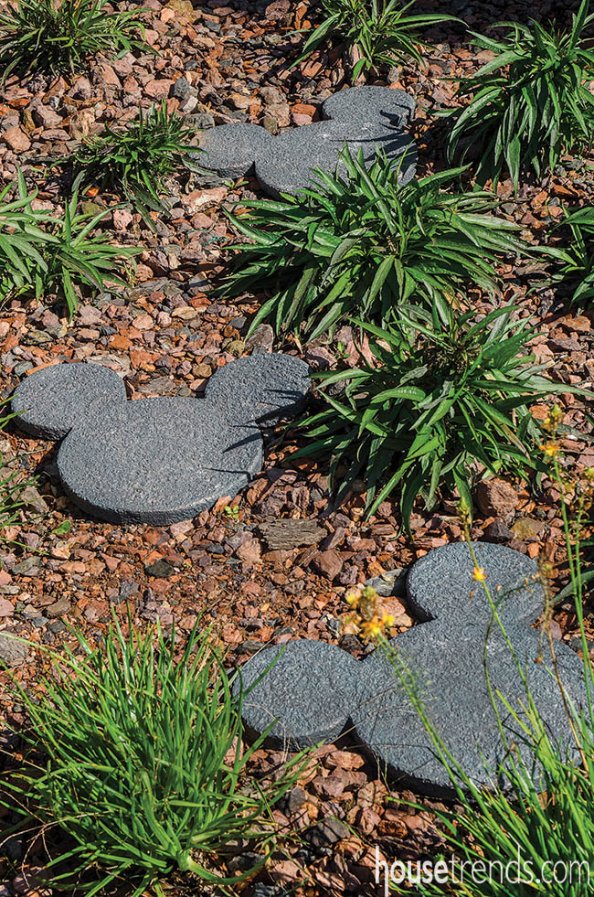 Disney-inspired landscape stones make a yard magical