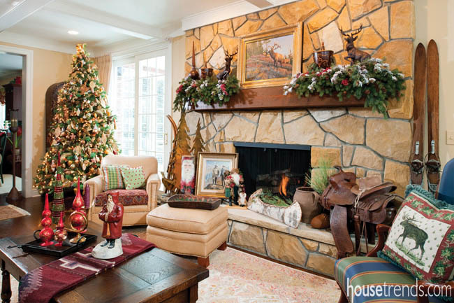 Festive Fireplace Mantel Decorating Ideas