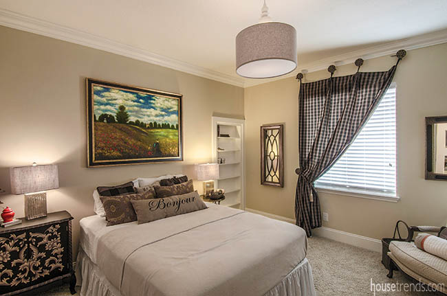 Interior design ideas such as art and window treatments transform a room