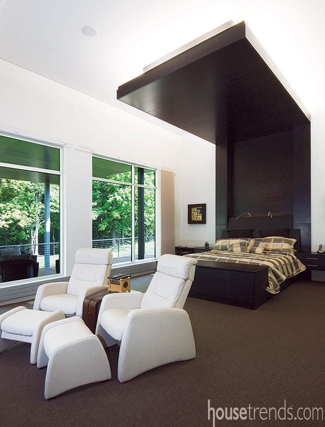 Master bedroom is cool and cozy