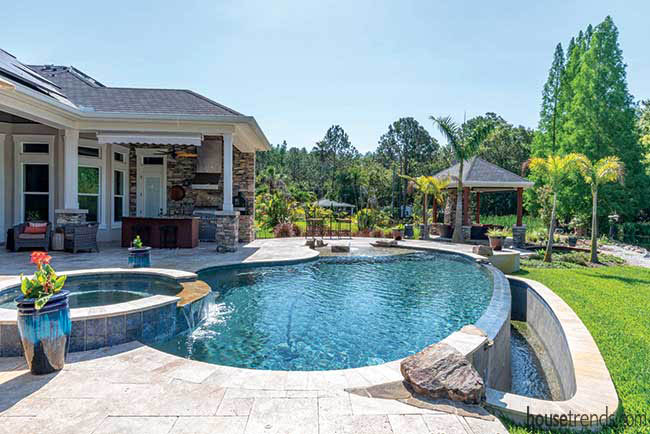 Hot tub flows into adjoining pool