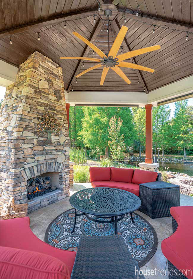 Gazebo offers protection from the elements