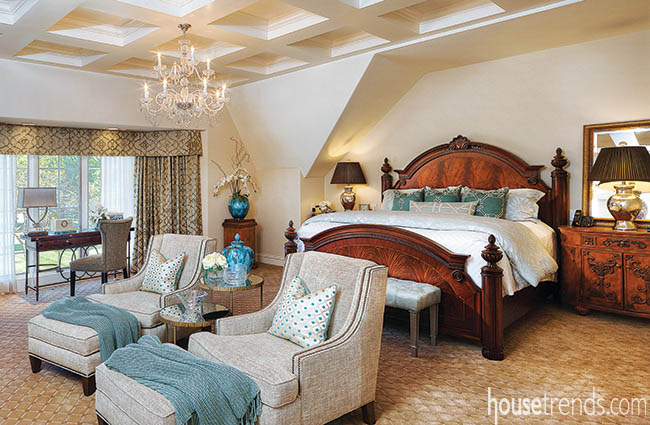Master bedroom design makes room for two