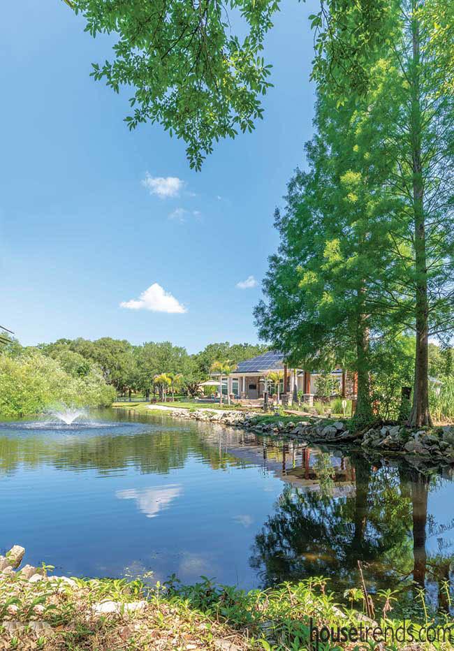 Lush landscape provides natural privacy