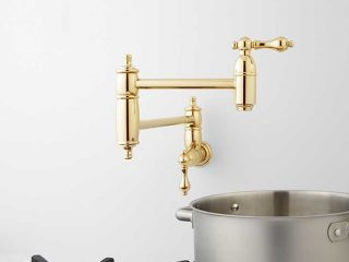 Augusta Retractable Wall-Mount Pot Filler from Signature Hardware