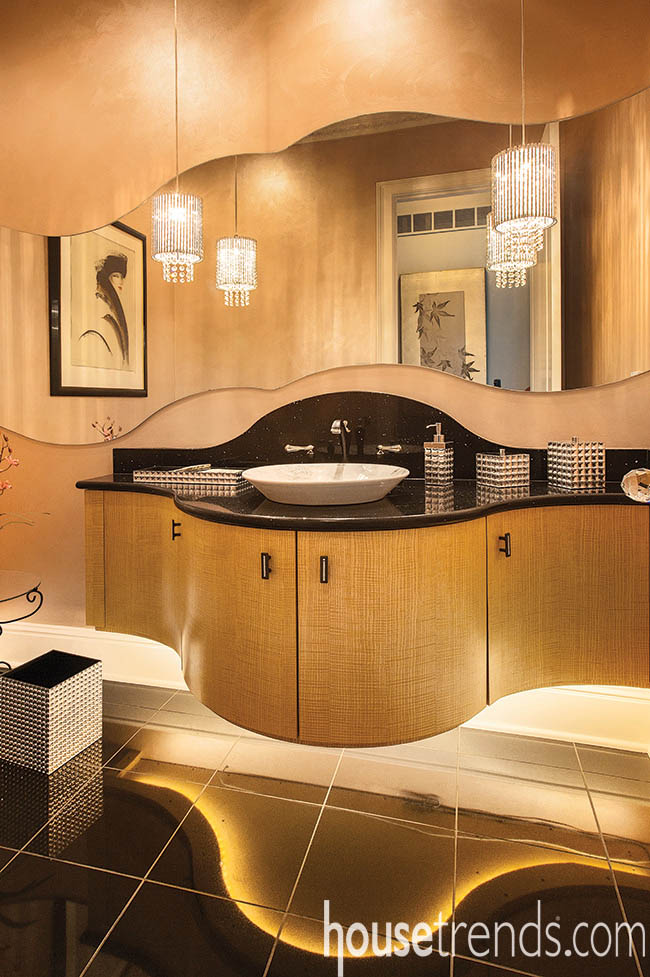 Powder room design pulls out all of the stops