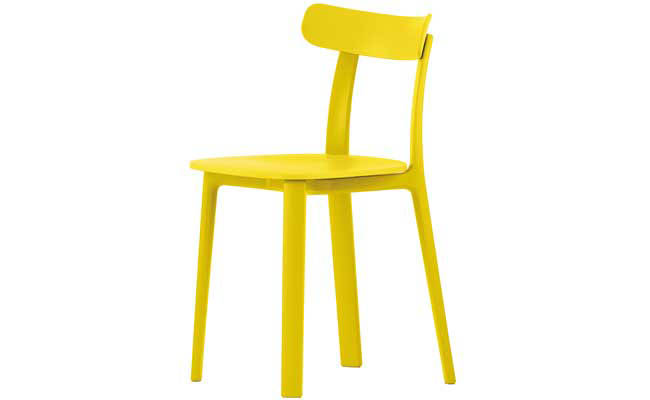 Yellow chair can brighten any room
