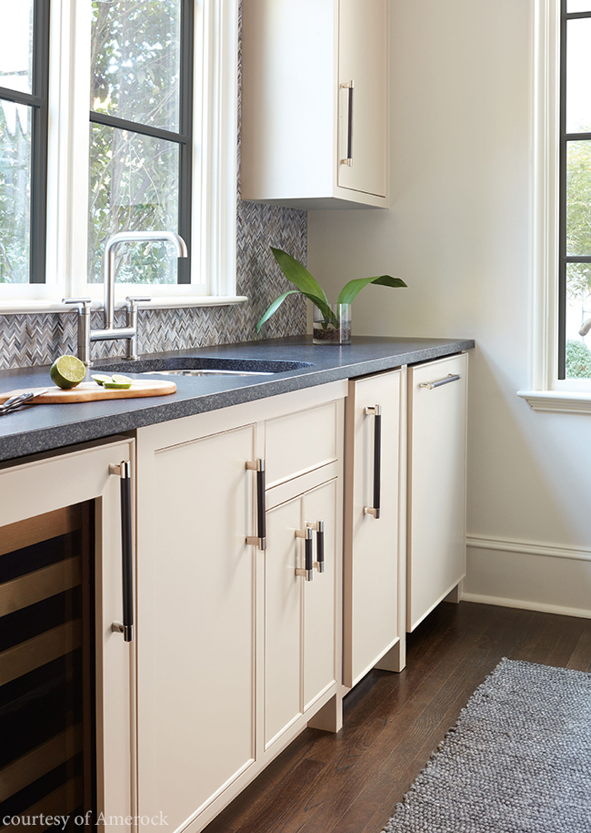 Cabinetry pull with a contemporary vibe