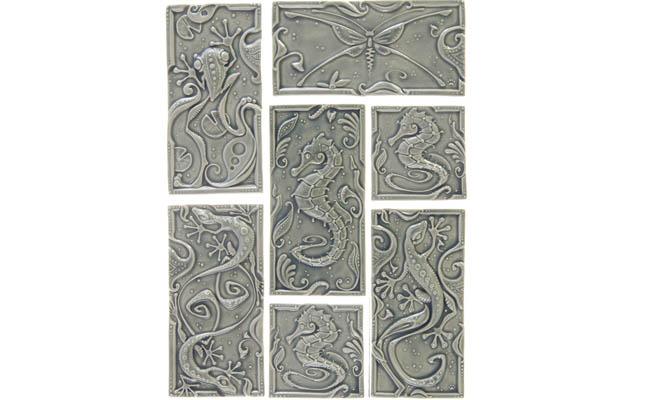Elegant tiles with a nautical theme