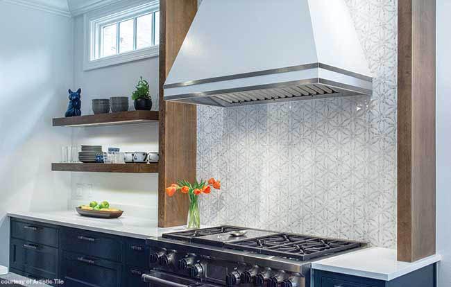 Tile backsplash perfect for any kitchen