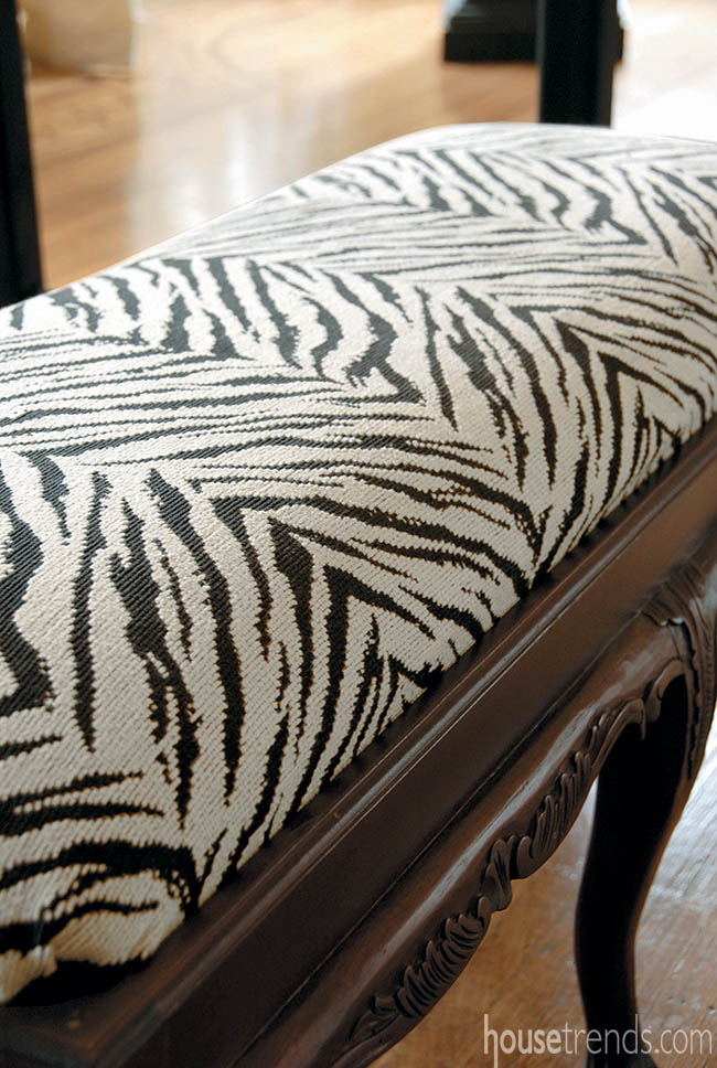 Animal print adds playful touch to home