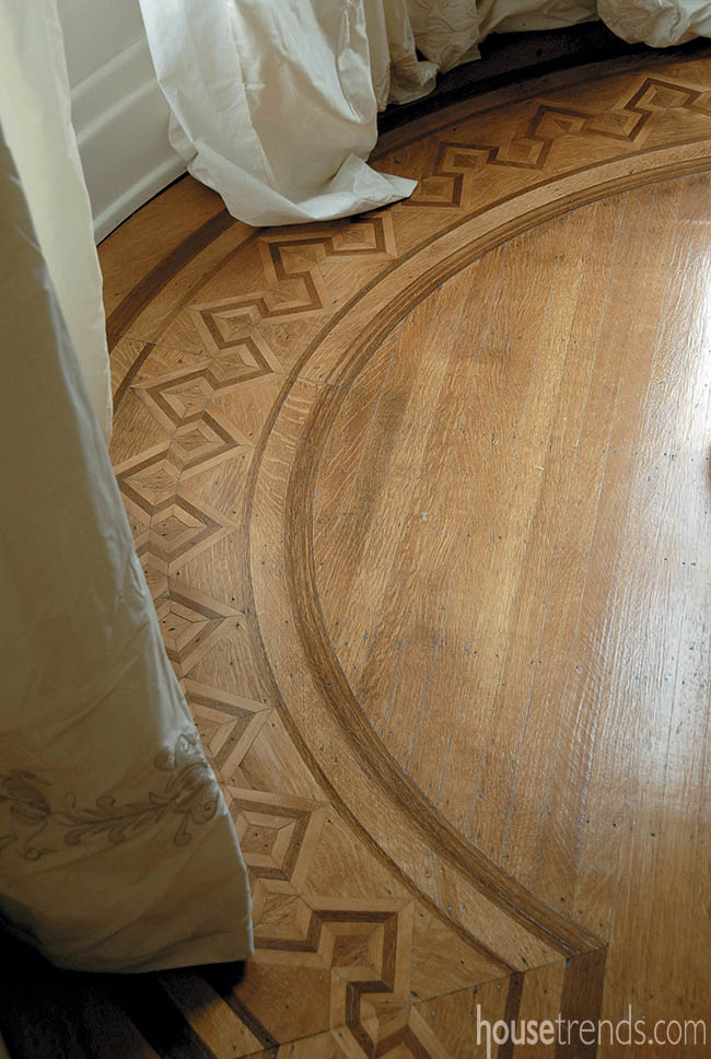 New flooring meshes perfectly with a historic home