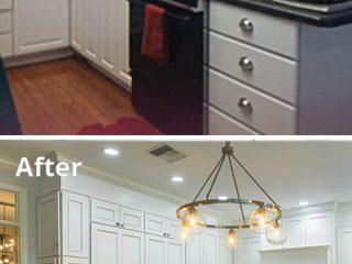 Range hood mimics cabinetry design