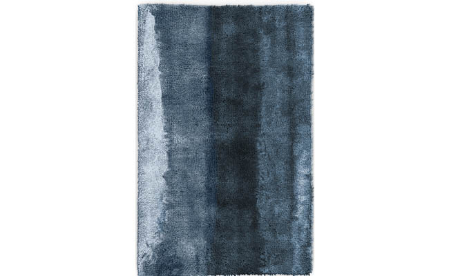 Blue rug inspired by a body of water
