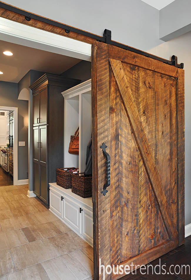 Sliding doors create conversation