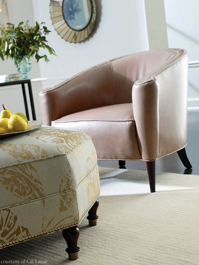 Living room chair can be patterned or plain