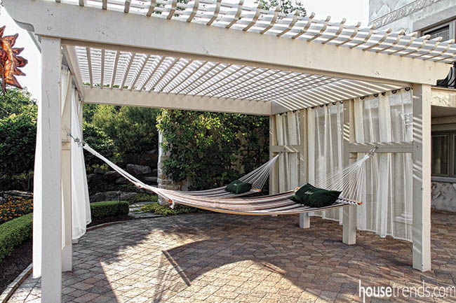 Pergola offers the ultimate spot for relaxation