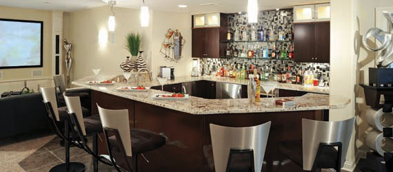 Home bar becomes popular hangout spot for large parties and nights with friends
