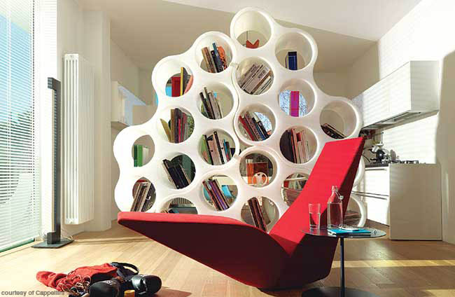 Bookshelf can be transformed into a variety of shapes