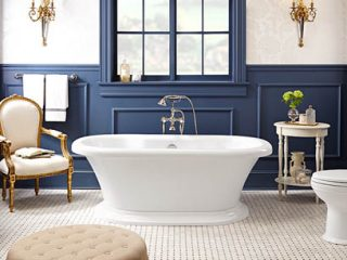 Classic bathroom with products from Carr Supply