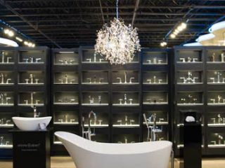 Faucets at the Carr Supply showroom