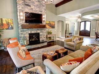 Living room project from Clemens Companies