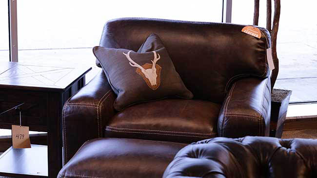 Leather chair from The Cleveland Furniture Company