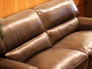 Leather sofa from The Cleveland Furniture Company