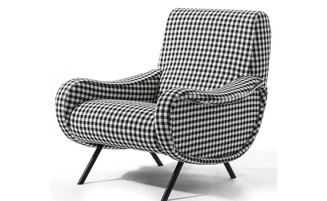 Club chair with a contemporary vibe