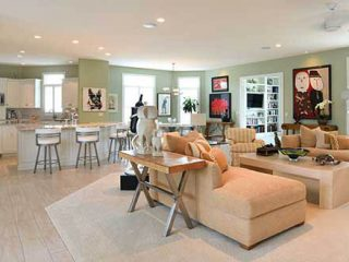 Open living area by Coates Custom Homes