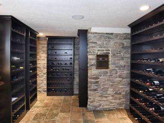 Wine cellar from Coates Custom Homes