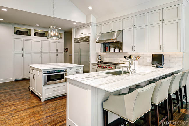 Kitchen remodel with a custom look