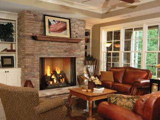 Living room project from Dayton Fireplace Systems