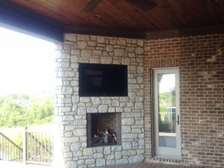 Outdoor fireplace project from Dayton Fireplace Systems