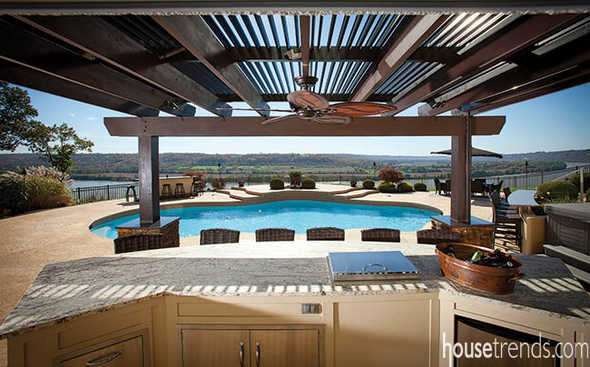 Outdoor living space offers every convenience