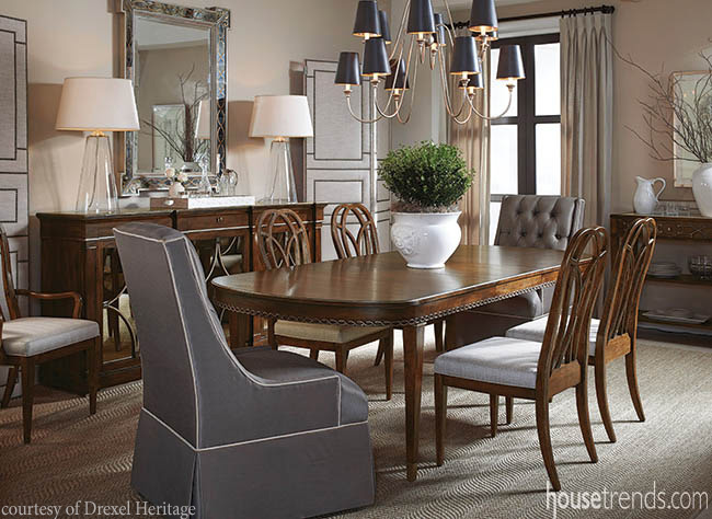 Dining room chairs meet a requirement