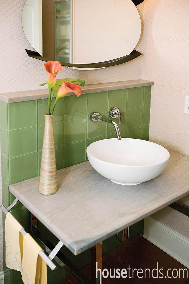 Powder room design strives for efficiency