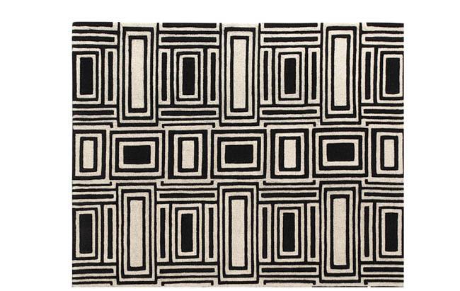 Area rug with eye-catching design