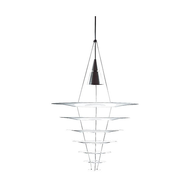 Pendant light shows off its mysterious side